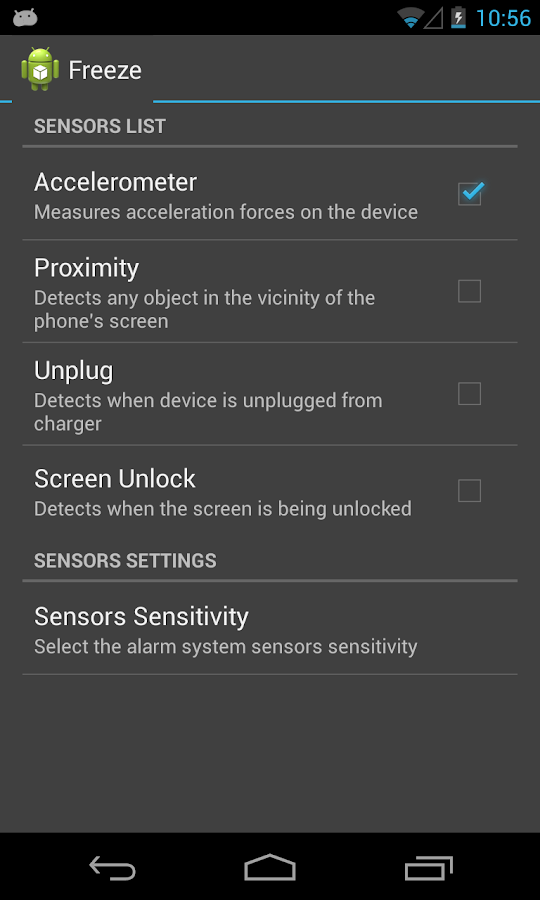 Security Alarm System - screenshot