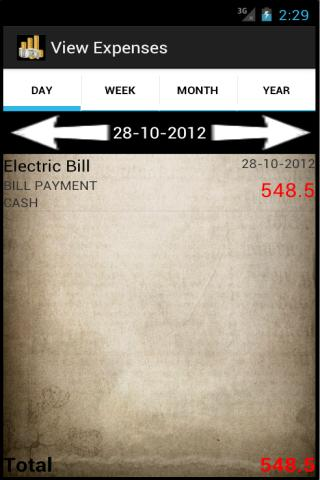Expenses Lite - screenshot