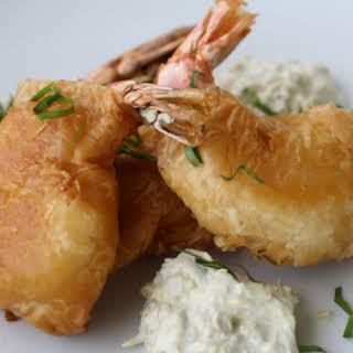 Sorrel Shrimp Rissoles with Artichoke Aïoli.