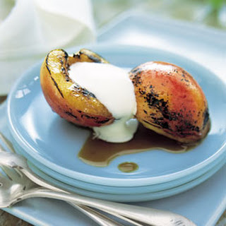 Grilled Nectarines with Honey-Balsamic Glaze