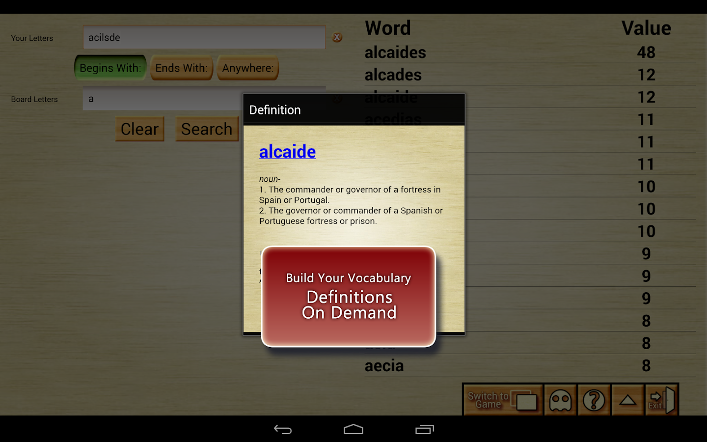 Word Breaker Full - screenshot