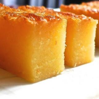 Baked Tapioca Cake (Kuih Bingka Ubi).