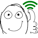 WiFi  Troll Face Widget icon