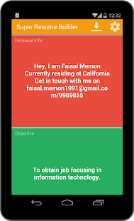super resume builder pro cv android apps on google play