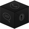 Secret Call&SMS- Black Theme icon