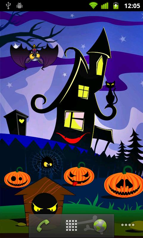 Halloween Live Wallpaper – straaaaaszna tapeta!