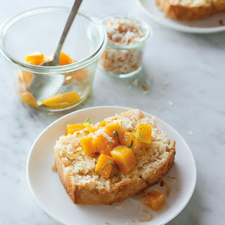 Coconut Pound Cake with Mango-Lime Topping