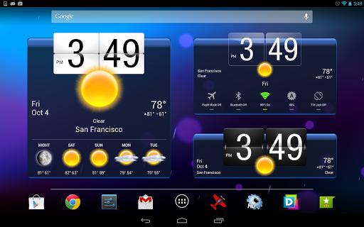 Приложение HD Виджеты для планшетов на Android