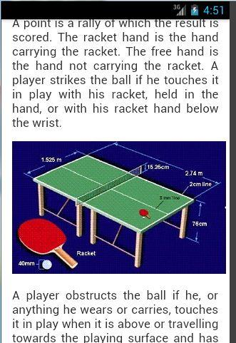 table tennis rules - android apps on google play