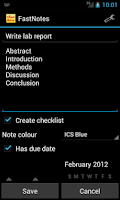 Screenshot of FastNotes Widget - Donation