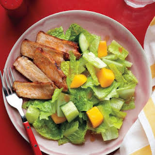 Cucumber and Mango Salad with Chili-Spiced Pork.