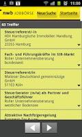 Screenshot of NWB Jobbörse