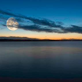 Moon III by Christian Skilbeck - Landscapes Sunsets & Sunrises