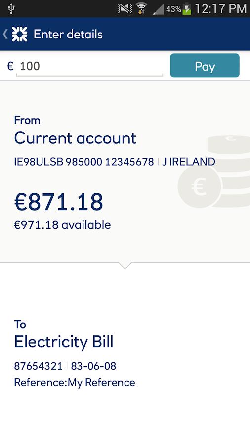 Ulster Bank ROI - screenshot