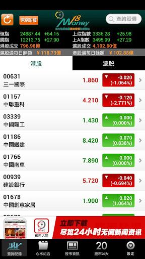 東網Money18 免費即秒報價及股市資訊