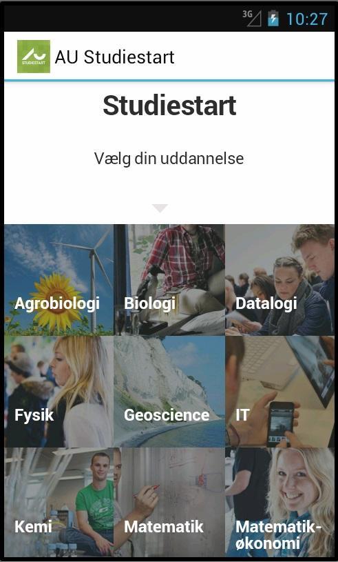 AU Studiestart- screenshot