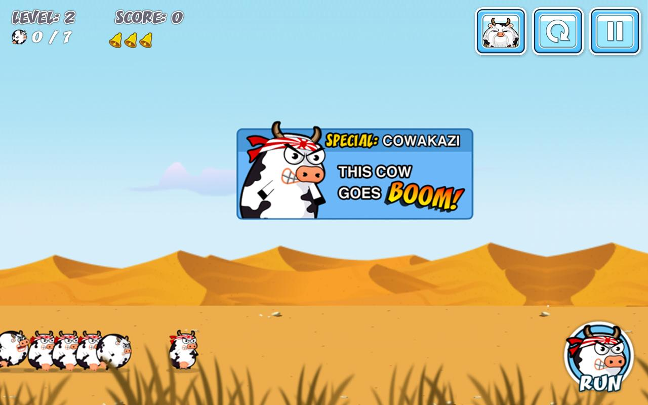 Cowaboom - Launch the cow !- screenshot
