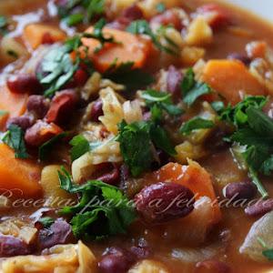 Pumpkin, Red Bean, and Vegetable Stew