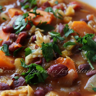 Pumpkin, Red Bean, and Vegetable Stew.