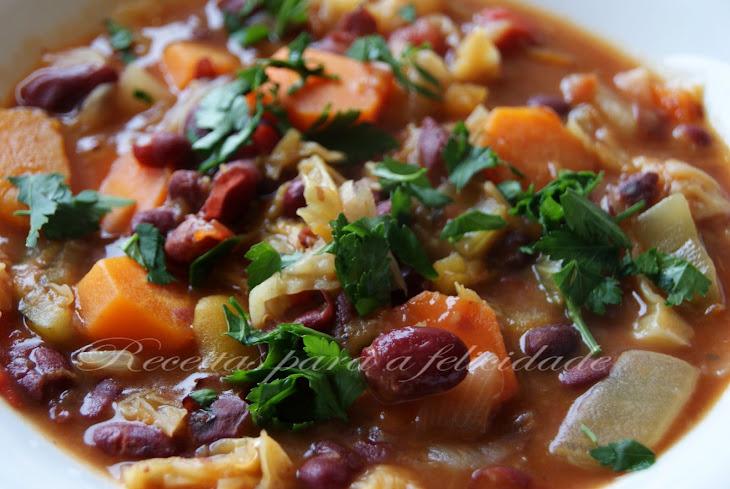 Pumpkin, Red Bean, and Vegetable Stew Recipe