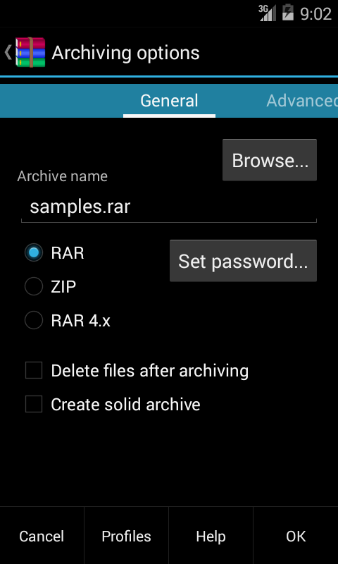 RAR per Android - screenshot