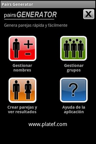 Generador de Parejas FREE - screenshot
