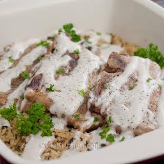 Pork Chops With Wild Rice.