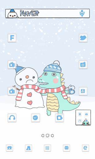 赤ちゃん恐竜雪だるまドドルランチャのテーマ
