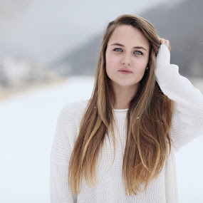 Teen in snow by Kristin Cheatwood - People Portraits of Women ( teenager, snow, beauty )