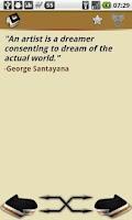 Screenshot of Philosophy Quotes, Philosophos