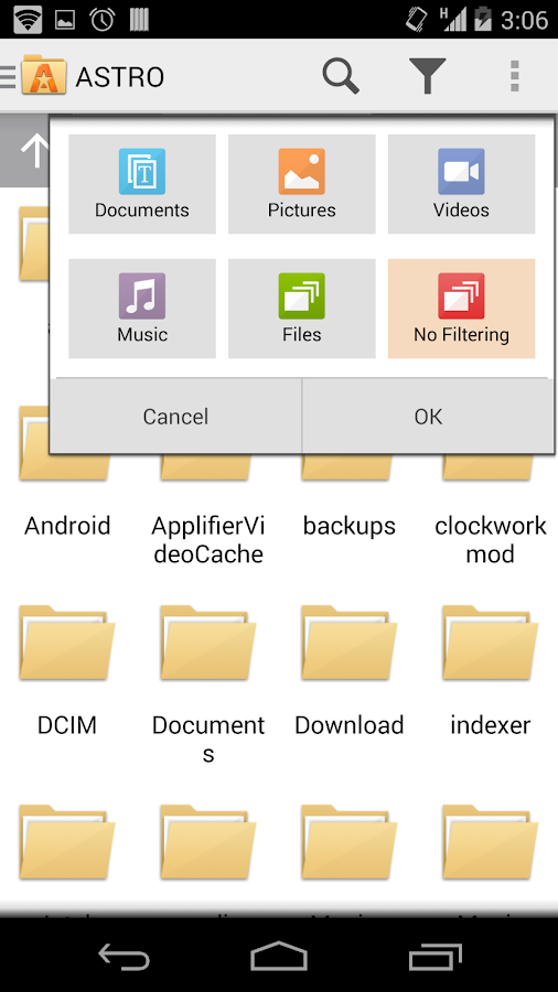 ASTRO File Manager with Cloud- screenshot