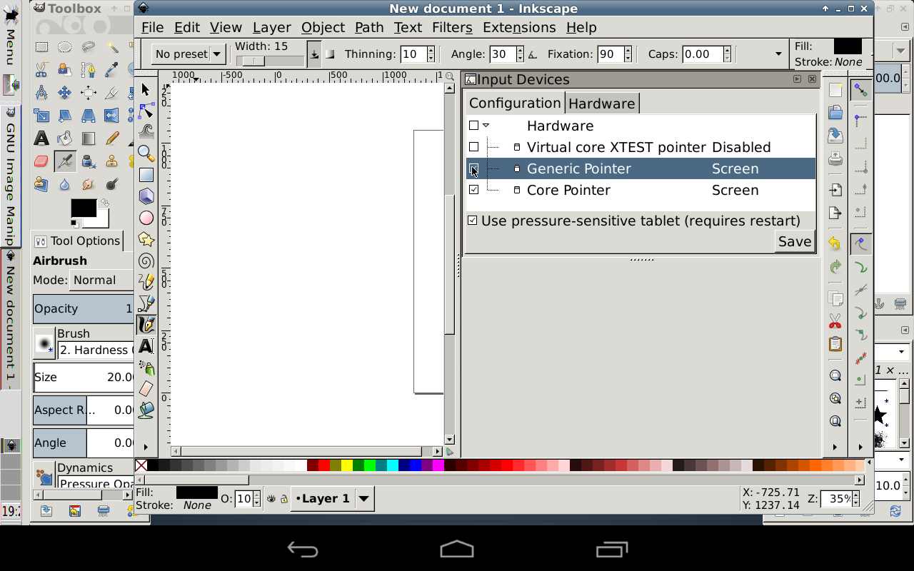 GIMP Inkscape – Screenshot