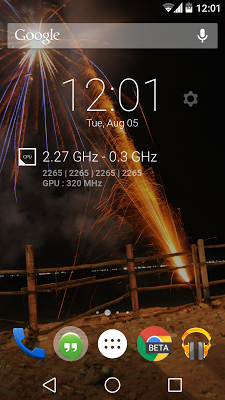 DashClock CPUMonitor Extension - screenshot