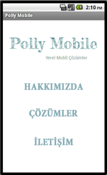 Polly Mobile - screenshot