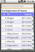 Screenshot of Pendlerkompis for Ruter