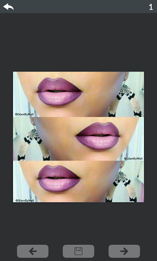 Lips makeup step by step 1