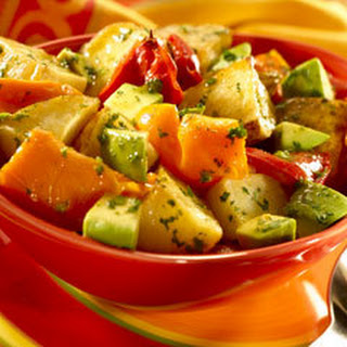Warm Roasted Potato & Avocado Salad.