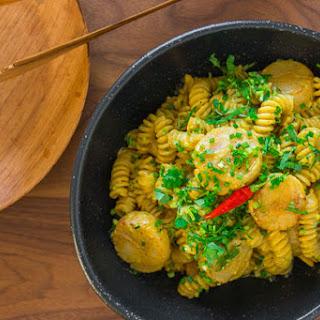 Curry Scallop Pasta