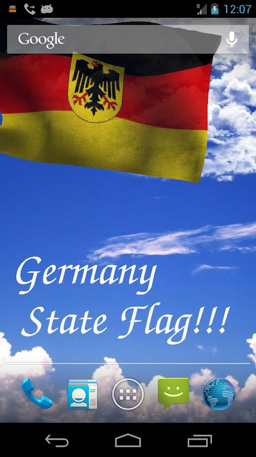 3D Germany Flag Live Wallpaper - screenshot