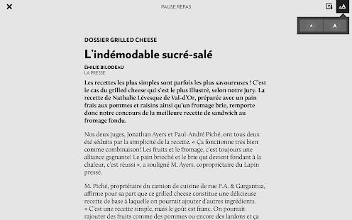 La Presse+- screenshot thumbnail