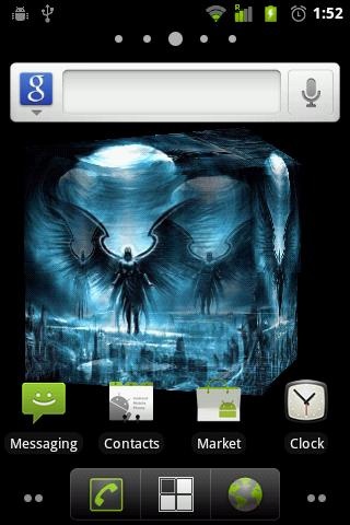 Dark Angel 3D Live Wallpaper - screenshot
