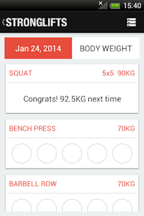 StrongLifts 5x5 - Get Stronger - screenshot thumbnail