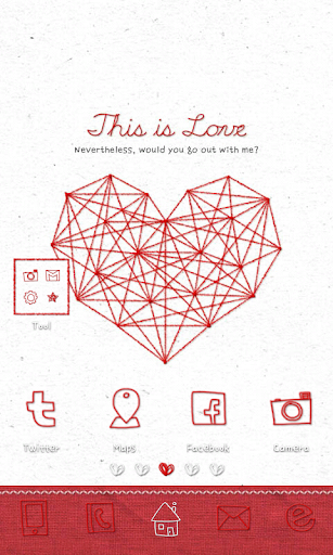 This is love go launcher theme