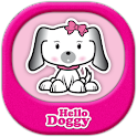 Hello Doggy Full Pink GO Theme logo