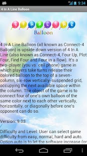 4 In A Line Balloon Free - screenshot thumbnail