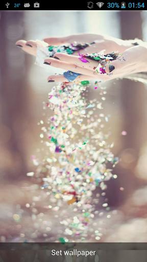 Raining Glitter Live Wallpaper