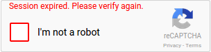 reCAPTCHA checkbox unchecked after the verification expires