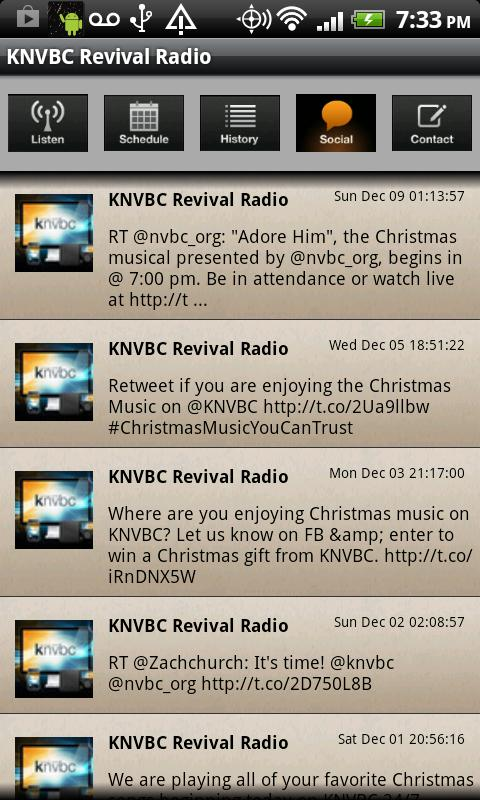 KNVBC Radio - screenshot