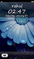 Screenshot of My Name Lock Screen Theme