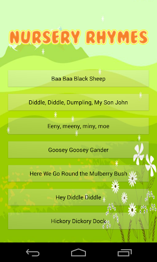 Nursery Rhyme Time Songs